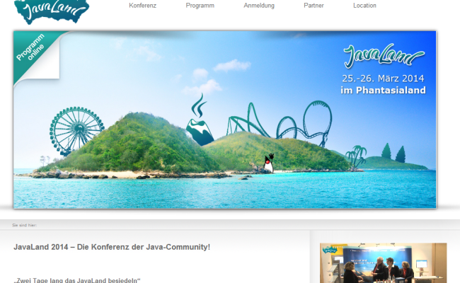 JavaLand 2014 – Die Konferenz der Java-Community!